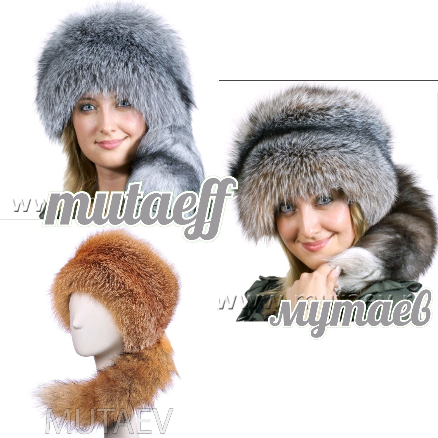 Fur women's hats from Fox, Caps, Moscow,  Фото №1
