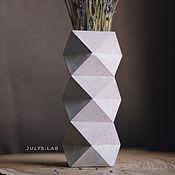 Вазы ручной работы. Ярмарка Мастеров - ручная работа Ваза из бетона геометрической формы в стиле Лофт. Handmade.