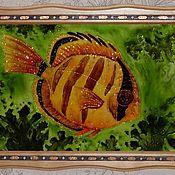 """Картины и панно ручной работы. Ярмарка Мастеров - ручная работа декоративное панно """"Золотая рыбка"""". Handmade."""