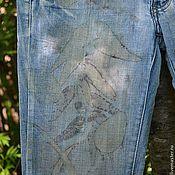 Одежда ручной работы. Ярмарка Мастеров - ручная работа Джинсы в Эко стиле.. Handmade.