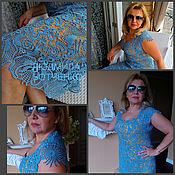 """Одежда ручной работы. Ярмарка Мастеров - ручная работа Платье """"Голубая Лагуна"""". Handmade."""