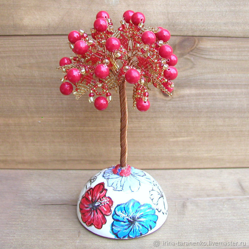 Coral tree 'Coral melody' on the sphere, Figurines, Moscow,  Фото №1
