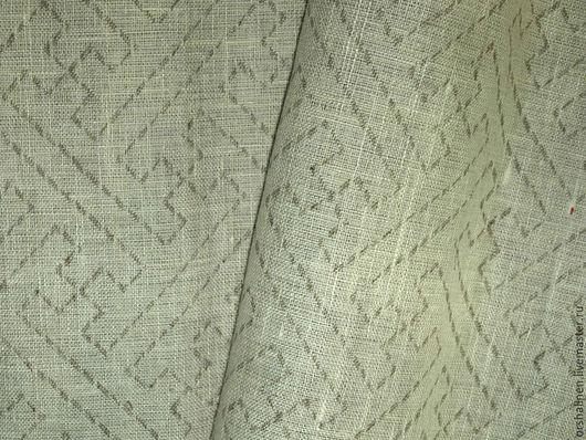 Шитье ручной работы. Ярмарка Мастеров - ручная работа. Купить Ткань декоративна ЭКСПРЕССИЯ(Стеганка). Handmade. Серебряный, оршанский лен, ткань