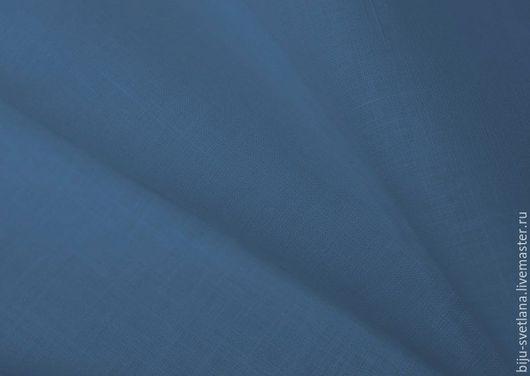 Шитье ручной работы. Ярмарка Мастеров - ручная работа. Купить Лён для палантинов. Handmade. Васильковый, лен 100%