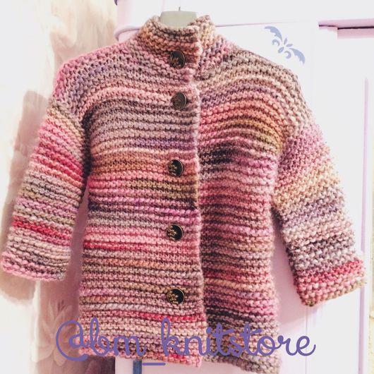 Верхняя одежда ручной работы. Ярмарка Мастеров - ручная работа. Купить Демисезонное пальто для девочки Honey&Berry. Handmade. Пальто, кейп