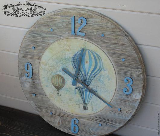 """Часы для дома ручной работы. Ярмарка Мастеров - ручная работа. Купить Часы настенные 50см """"Поднимись над суетой"""". Handmade."""