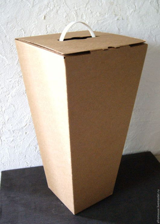 """Упаковка ручной работы. Ярмарка Мастеров - ручная работа. Купить коробка """"Трапеция"""" 50 х25х25 см, высокая. Handmade. Коробка"""