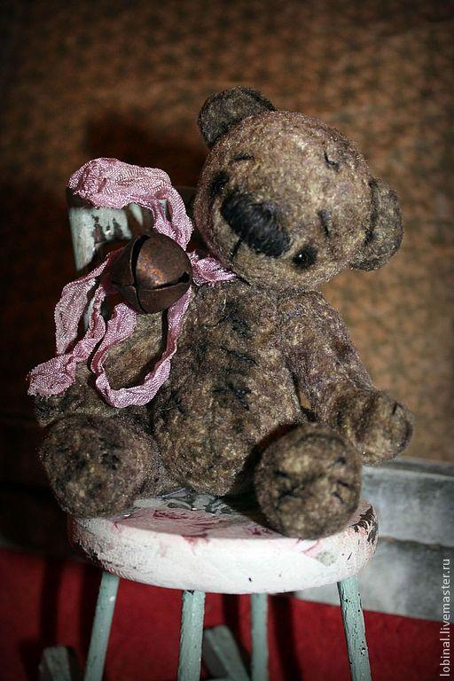 Мишки Тедди ручной работы. Ярмарка Мастеров - ручная работа. Купить Крош. Handmade. Серый, холофайбер