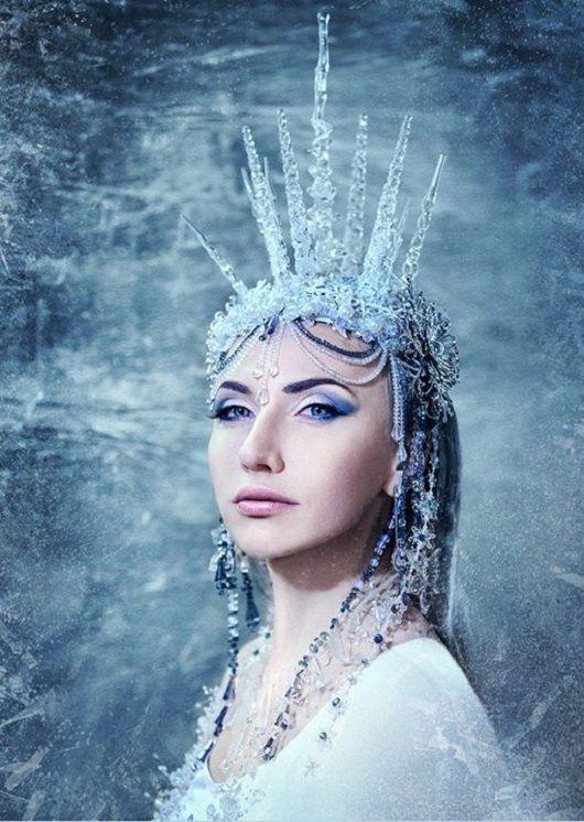 Карнавальные костюмы ручной работы. Ярмарка Мастеров - ручная работа. Купить Корона снежной королевы. Handmade. Белый, карнавальная маска