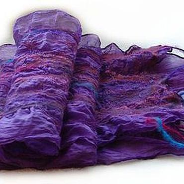 """Аксессуары ручной работы. Ярмарка Мастеров - ручная работа Шарф """"Фиолетовый вечер"""". Handmade."""