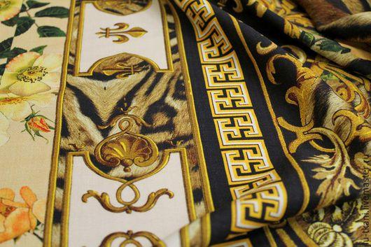 Шитье ручной работы. Ярмарка Мастеров - ручная работа. Купить Итальянская плательная шерсть Versace. Handmade. Золотой, плательная шерсть