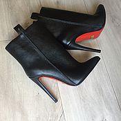 Обувь ручной работы. Ярмарка Мастеров - ручная работа Ботиночки Marine. Handmade.