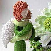 Подарки к праздникам ручной работы. Ярмарка Мастеров - ручная работа Ангел мама в салатовом. Handmade.