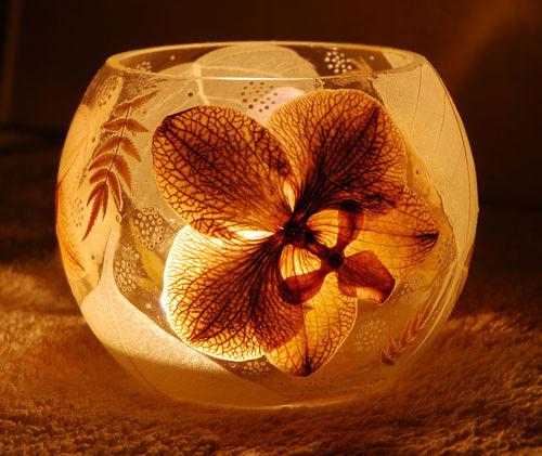 Подсвечники ручной работы. Ярмарка Мастеров - ручная работа. Купить Подсвечник Орхидея. Handmade. Стекло, коричневый