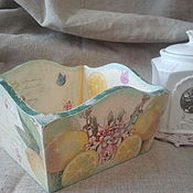 """Для дома и интерьера ручной работы. Ярмарка Мастеров - ручная работа Сухарница """"Лимончики"""". Handmade."""