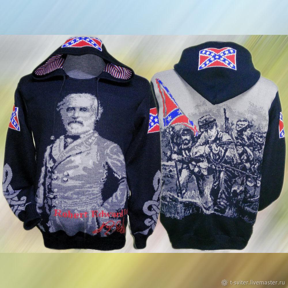Тату-свитер - генерал Роберт Эдвард Ли, Свитеры мужские, Москва,  Фото №1