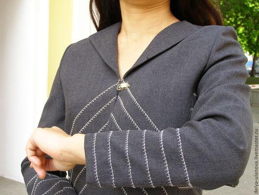 """Пиджаки, жакеты ручной работы. Ярмарка Мастеров - ручная работа. Купить Жакет """"Матадор"""". Handmade. Темно-серый, шерстяной жакет"""