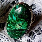 Украшения ручной работы. Ярмарка Мастеров - ручная работа кольцо из хризоколлы. Handmade.