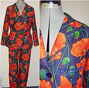 """Одежда ручной работы. Ярмарка Мастеров - ручная работа Костюм для дома"""" Маки"""",  пижама из штапеля.. Handmade."""
