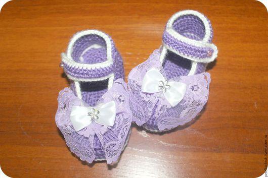 Пинетки - туфельки для девочки - малышки. 11-12 см