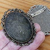 Материалы для творчества handmade. Livemaster - original item The basis for a brooch, 30h40mm. Art. 60. Handmade.