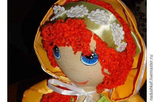 Куклы тыквоголовки ручной работы. Ярмарка Мастеров - ручная работа. Купить Текстильная кукла Злата. Handmade. Рыжий, большеножка