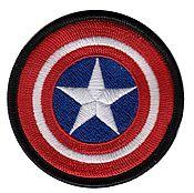 Аппликации ручной работы. Ярмарка Мастеров - ручная работа Нашивка Капитан Америка Captain America Strikeball Страйкбол. Handmade.