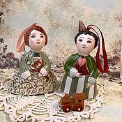 """Сувениры и подарки ручной работы. Ярмарка Мастеров - ручная работа Колокольчики """" Детишки с игрушками"""". Handmade."""