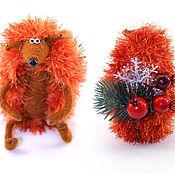Куклы и игрушки ручной работы. Ярмарка Мастеров - ручная работа игрушка Ежик рыжий новогодний (рождество,ежонок,огненный). Handmade.