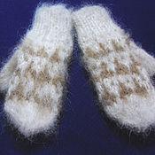 Одежда детская handmade. Livemaster - original item Children`s knitted mittens. Handmade.