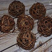 Материалы для творчества handmade. Livemaster - original item Balls of vines 5 cm, 1 PC.. Handmade.