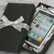 Подарки к праздникам ручной работы. Ярмарка Мастеров - ручная работа Мыло iPhone чёрный в коробке - парфюмированный подарок мужчине. Handmade.