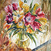 Картины и панно handmade. Livemaster - original item Watercolor painting spring has come To our house.. Handmade.