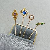 Винтаж handmade. Livemaster - original item Gold antique pins, late 19th - early 20th century. Handmade.