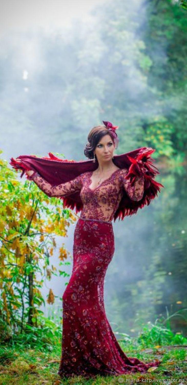 Красное длинное, Платья, Сертолово,  Фото №1