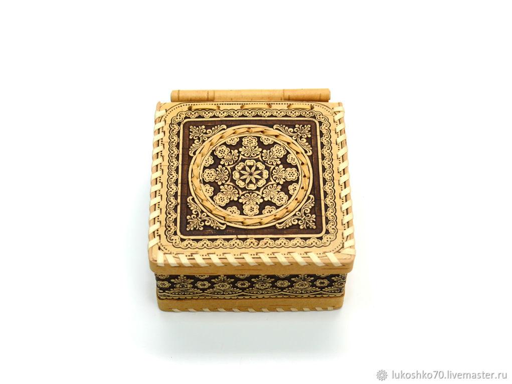 Box of birch bark 'Fishnet'. Box for storing small things, Box, Tomsk,  Фото №1