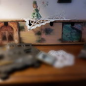 """Для дома и интерьера ручной работы. Ярмарка Мастеров - ручная работа Полка-комодик """"Винтажный кабинет"""". Handmade."""