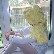 """Работы для детей, ручной работы. Ярмарка Мастеров - ручная работа Комплект  """"Любимый"""" (берет и шарфик). Handmade."""