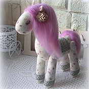 Мягкие игрушки ручной работы. Ярмарка Мастеров - ручная работа Мягкие игрушки: Лошадка Сирень. Handmade.