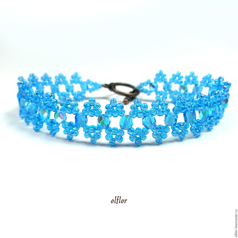 Bracelets handmade. Livemaster - handmade. Buy Beaded bracelet.Gift, blue, bracelet, turquoise, decoration, beaded bracelet