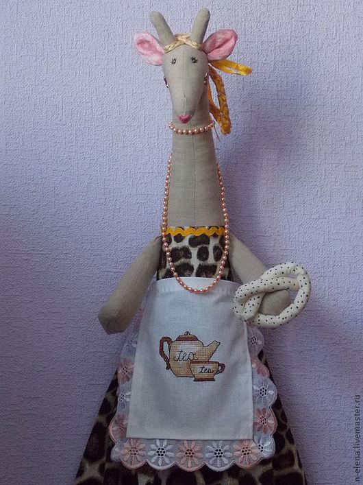 Кухня ручной работы. Ярмарка Мастеров - ручная работа. Купить Пакетница жирафа. Жаннет.. Handmade. Коричневый, подарок, тильда жираф