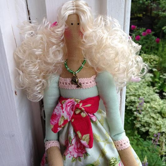 """Куклы Тильды ручной работы. Ярмарка Мастеров - ручная работа. Купить """"Ангел цветущего сада"""".Кукла Тильда. Handmade. Мятный"""