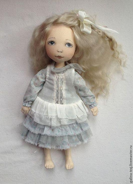 Коллекционные куклы ручной работы. Ярмарка Мастеров - ручная работа. Купить Алиса. Handmade. Голубой, кукла-девочка, хлопок 100%