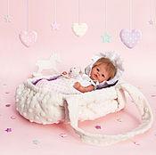 Куклы и игрушки handmade. Livemaster - original item Cradle carrying for dolls 15-20 cm.. Handmade.