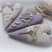 Подарки к праздникам handmade. Livemaster - original item Hearts in the style of Tilda Rustle of lavender. Handmade.