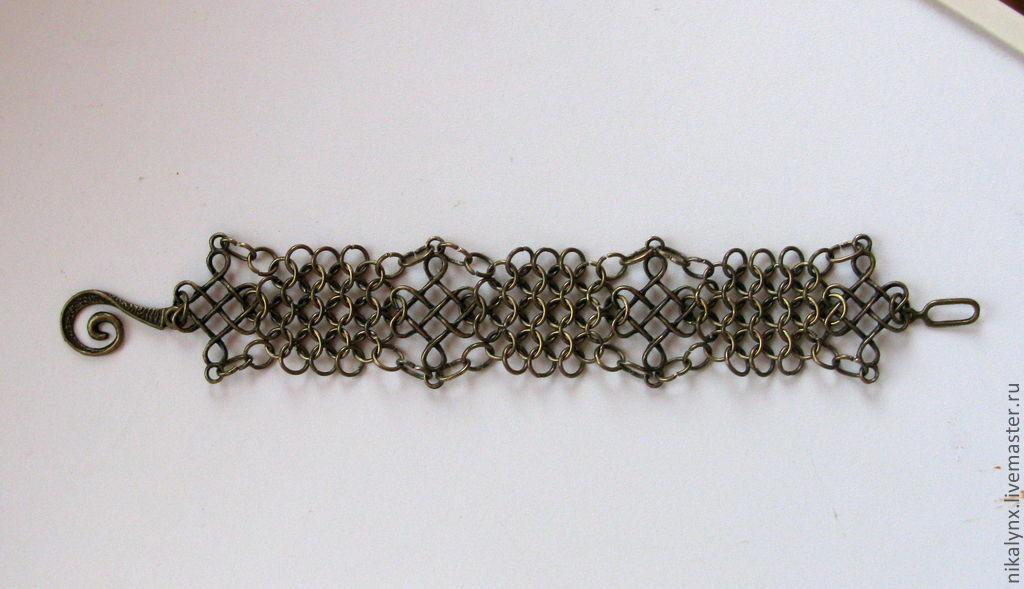 Metallic braided bracelet bronze color, Braided bracelet, St. Petersburg,  Фото №1