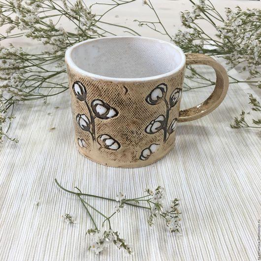 """Кружки и чашки ручной работы. Ярмарка Мастеров - ручная работа. Купить Чашка """"Хлопок"""". Handmade. Посуда, посуда из керамики, такерамика"""
