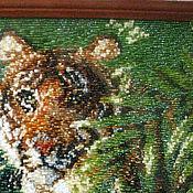 """Картины и панно ручной работы. Ярмарка Мастеров - ручная работа Картина """"Тигр"""". Handmade."""