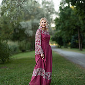 Одежда handmade. Livemaster - original item Long linen dress