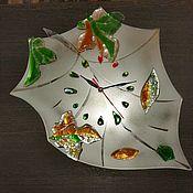 """Часы классические ручной работы. Ярмарка Мастеров - ручная работа Часы: """"Осенний блюз"""". Handmade."""